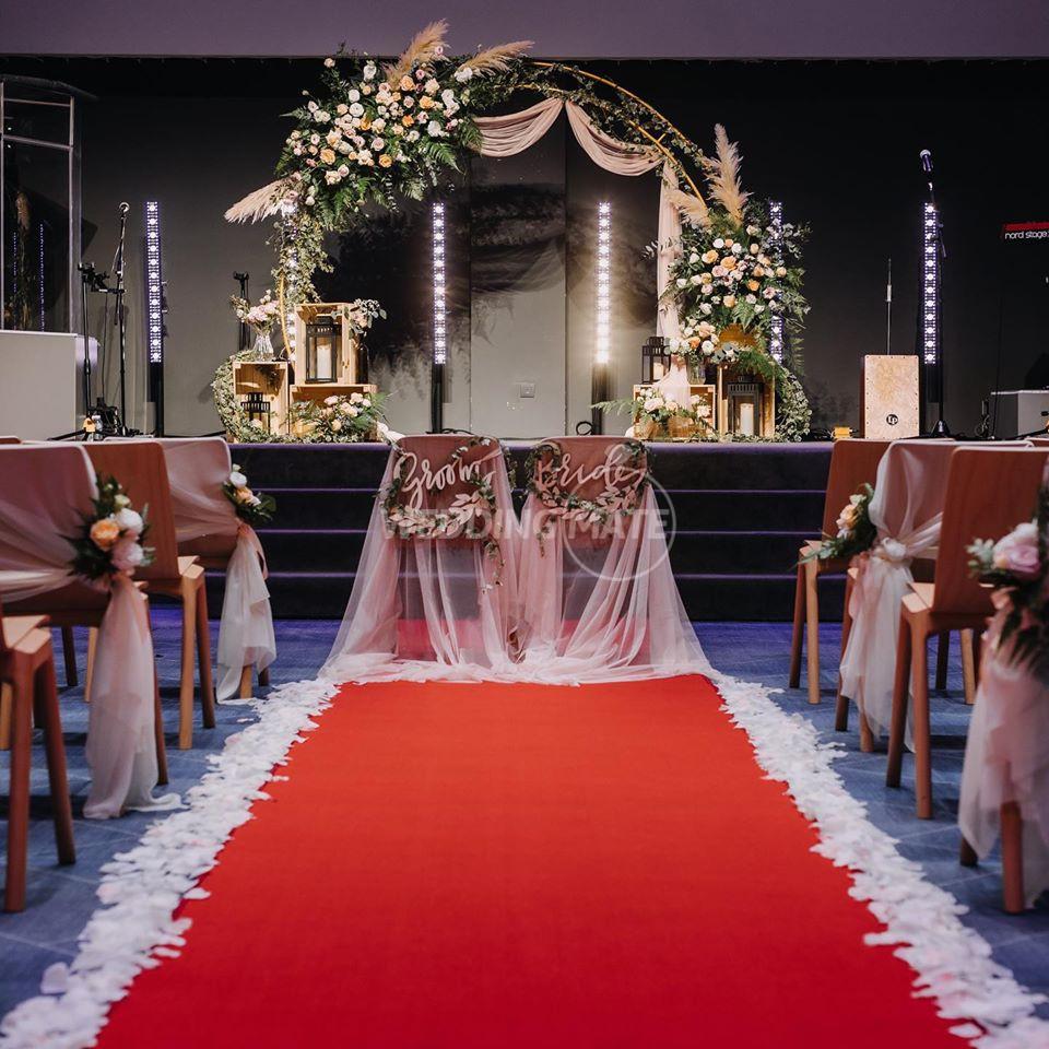 Blush Wedding and Bouquet
